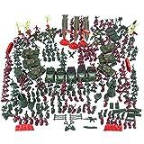 Xshion Millitärspielzeug Set für Baustein, WW2 Waffen, Sandsack, Panzer und 4cm Soldaten Set für SWAT Team Polizei Soldaten Mini Figuren, Kompatibel mit Lego(301St.)