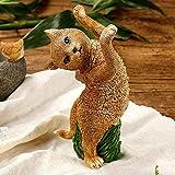 LJXLXY Muschi Katze Geschmack Statue Simulation niedlichen Tiere Harz Handwerk büro Zeigen Fenster Wohnzimmer Dekoration