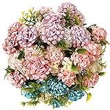 Künstliche Blumen deko,hortensien kunstblumen,Seidenblumen künstliche Blumen Sommer Unechte Blumen Deko Blumen künstlich (Vier Farben)