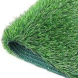 WGG Kunstrasen-Teppich, Wärmedämmung Realistischer Kunstgras Aus Kunstgras Für Dach Im Innenbereich, Dekorationen Zaun Hintergrund Kunstgras-Teppich (Color : Grün, Größe : 3 x 10 ft)