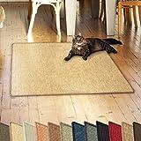 casa pura Sisalteppich Natural Line   ideal als Kratzmatte für Katzen   schadstofffrei & widerstandsfähig   Sisal Kratzteppich in vielen Farben und Größen (Natur, 100x100 cm)