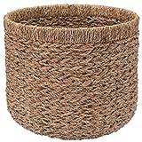 Decorasian Korb Aufbewahrung rund geflochten nachhaltig aus Seegras - 40cm