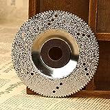 BEVANNJJ ZYY 100 mm Diamantschleifscheibe Diamanttrennscheibe Sägeblättern von Blechen for Dremel Rotationswerkzeug Cuttter Marmor Beton Porzellan