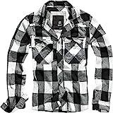 Brandit Check Shirt Herren Baumwoll Hemd M Weiss-schwarz