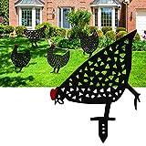 Chicken Yard Art Gartenschilder, Garden Animal Dekorationen & Zubehör, Outdoor Garten Hinterhof Rasen Pfähle Hen Yard Dekor Geschenk - 5 Stück