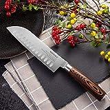 Edelstahl Küchenmesser 4Cr14mov Santoku Messer Kochmesser Top-Qualität Japanisches Kochmesser Sushi-Fisch Slicer (Color : 6.5 inch Santoku)