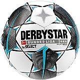 Derbystar Kinder Bundesliga Brillant S-Light Fußball, weiß schwarz Petrol, 5