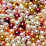 TOAOB 500 Stück 6mm Glasperlen Runde Sortierte Mehrfarbig Perlen für Schmuckherstellung