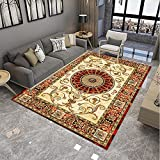 ZAZN Teppichsofa Im Europäischen Stil Wohnzimmer Couchtisch Bodenmatte Schlafzimmer Nachttisch Teppich Verschleißfest Waschbar