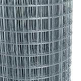 Kosoree Volierendraht 4-Eck Maschendraht 1,0 x 25m 25x25 mm Gartenzaun Zaun verzinkt
