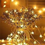 Solarlicht 50 LED-Lichterketten Außenlichterketten Solarlampen für Garten-Außenbeleuchtung Home Yard Christmas