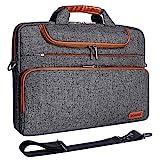 DOMISO 17 Zoll Wasserdicht Laptop Tasche Aktentasche Schultertasche Notebooktasche Business für 17-17.3' Notebook/Dell/Lenovo/Acer/HP/MSI/ASUS, Dunkelg
