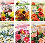 Iloda® 100 Glückwunschkarten zum Geburtstag Blumen 51-0775 Geburtstagskarte Grußkarte