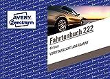 AVERY Zweckform 222 Fahrtenbuch für PKW im 20er-Pack vom Finanzamt anerkannt, A6 quer, 80 Seiten insgesamt 390 Fahrten, für Deutschland und Österreich zur Abgrenzung privater/geschäftlicher F