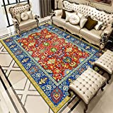 Oukeep Teppich Im Ethnischen Stil, Geeignet Für Großflächige Gastfamilien, Teppich Im Ethnischen Stil, Waschbar