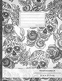 """Reisetagebuch: DIN A4, """"Totenköpfe"""", 70+ Seiten, Soft Cover, Register, Reisecheckliste • Original #GoodMemos Travel Journal • Reisenotizbuch zum Selberschreib"""