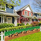 Großes Pferderennen-Banner für Zaun, Pferderennen, Spiel, Dekoration, Kentucky Derby, Party-Dekoration und Zubehör für Zuhause