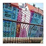 hanfseil Gewebte Frachtnetze, Kinderschwelzäune, Spielplatzschutznetze Nylon-Seile, Dekorationsnetze für Kinder, Kletternetze im Freien, farbige Treppen Sicherheitsnetze Katzen Netz