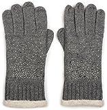 styleBREAKER warme Handschuhe mit Strass und Fleece, Winter Strickhandschuhe, Damen 09010010, Farbe:Grau (One Size)