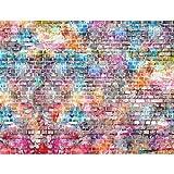 Fototapete Steinwand 396 x 280 cm - Vlies Wand Tapete Wohnzimmer Schlafzimmer Büro Flur Dekoration Wandbilder XXL Moderne Wanddeko - 100% MADE IN GERMANY - 9020012b