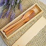 22cm Holz Essstäbchenhalter Leichte Besteck Aufbewahrungsbox Tragbar für Büro für Dessertlöffel