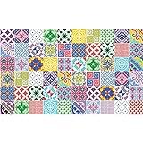 Ambiance-Live 60Aufkleber Fliesen | Sticker Selbstklebend Fliesen–Mosaik Fliesen Wandtattoo Badezimmer und Küche | Fliesen Kleber–Mehrfarbig Vintage künstlerischen–10x 10cm–60-teilig