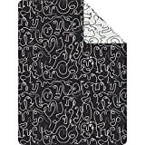 Ibena Novana Kuscheldecke 150x200 cm - gemusterte Decke schwarz, Pflegeleichte und kuschelweiche Baumwollmischung