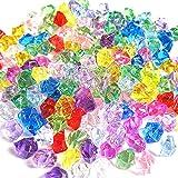 N\A 200 Stück falsche Eissteine, Diamanten, Kunststoff-Eiswürfel für Vasenfüller, Aquarium, Heimwerken, Party und Hochzeitsdekoration, mehrfarbig