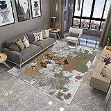 ZAZN Moderner Minimalistischer Teppich Wohnzimmer Schlafzimmer 3D Gedruckte Fußmatten Nordisches Teppichmuster Fußmatten Flurtepp