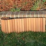 ROG garden-line 180 x 30 cm : BANGKIRAI ROLLBOARDER HARTHOLZ BEETUMRANDUNG RASENKANTE = 11,64 EUR/