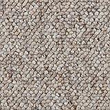 Teppichboden Auslegware Meterware Schlinge beige weiß 200, 300, 400 und 500 cm breit, verschiedene Läng