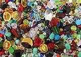 500g Glasperlen Kristall Perlen Bunt Mix Rund Würfel Oval Kristal für Schmuck Basteln