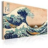 murando - Bilder die große Welle vor Kanagawa 120x80 cm Vlies Leinwandbild 1 TLG Kunstdruck modern Wandbilder XXL Wanddekoration Design Wand Bild - Katsushika Hokusai p-B-0009-b-a