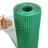 Garten Fechten Hähnchen Drahtgeschweißt Mesh Roll Grün PVC Beschichtet Heiß Getaucht Galvanisierter Stahl 3x3cm Feinmaschig Für Geflügelzaun, Taube Vogelkäfig ( Color : 2.3mm , Size : 1.2x30m )