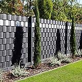 Premium Zaunsichtschutz HART-PVC / 5 x Streifen 2,525 m (1,81 EUR/m) / Höhe 19 cm Anthrazitgrau - Zaun Sichtschutzstreifen Fachhandelsware für Doppelstabmattenzaun Zaun Sichtschutz anthrazit
