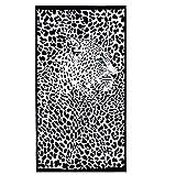 HONGCI Mikrofaser Handtücher 180x100cm- Strand & Reisehandtuch - Schnelltrocknend, leicht, Ultra saugfähig Strandhandtuch, Yoga, Badetuch, Saunatücher, Sportshandtuch (Schwarz)