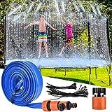 LETIGO Trampoline Sprinkler, 12 m Outdoor Trampolin Wassersprinkler, Trampolin Spielzeug Spray Wasserpark Sprinkler Summer Water Fun Sprayer für Kinder Trampolin zubehör