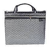 Gewebte Muster Double-deck Konzepthalter Zipper Bag Sachen Veranstalter, Grau