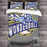 Wonderbolts 3-teiliges Bettwäsche-Set, 213 x 178 cm, superweich, warm, Bettbezug, Queen-Bettwäsche-Set mit 2 Kissenbezügen