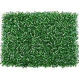 Künstliche Heckenplatte, 60 × 40 cm Pflanze künstliche Matte Grün Wand Hecke Zaun Laub Panel Home Hochzeit Pannel, Outdoor Gras Grün Efeu Privatsphäre Zaun Bildschirm, Faux Pflanze Wand Hintergrund