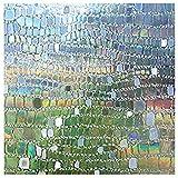 LMKJ Static Opaque Privacy Window Sticker, Pebble Style Reusable Decorative Glass Film, Home Bathroom Glass Sticker A23 30x100cm