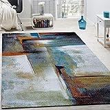 Paco Home Designer Teppich Modern Kurzflor Wohnzimmer Bunt Trendig Meliert Multicolour, Grösse:160x230