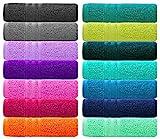 Lashuma London Handtuch Grün - Nautic, Frotteehandtuch 50x100, Sporthandtuch Baumwolle