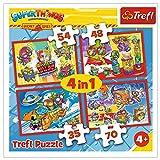 Trefl, Puzzle, Geheime Spione, von 35 bis 70 Teilen, 4 Sets, Magic Box Super Things, für Kinder ab 3 J