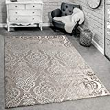 Paco Home Designer Teppich Moderne Orient Muster 3D Wohnzimmerteppich Beige Creme, Grösse:120x170 cm