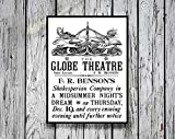 AZSTEEL Reprint of A Poster by Heywood Sumner for The Globe Theatre London | Poster No Frame Board for Office Decor, Best Gift for Family and Your Friends 11.7 * 16.5 Inch