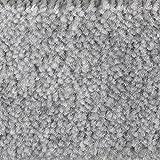 Teppichboden Auslegware Meterware Velour meliert   Grau   2,5 x 5 m breit   Verschiedene Längen verfügbar