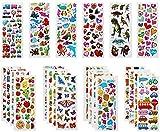 Mehr als 600 Tiere Obst Gemüse Aufkleber Dinosaurier Zahlen etc3D für Kinder Sticker,30 Aufkleber Sticker Kinder Belohnung Scrapbooking