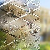LMKJ Elektrostatische Aufbewahrung von Bambusglasfolien, Privatsphäre, Wärmedämmung, mattierte Sonnencreme, Wiederverwendbare Fensteraufkleber A42 45x200cm