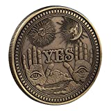Ja/Nein Buchstaben-Entscheidungsmünze, Ja, keine Herausforderung, Münze Ornamente, Entscheidung